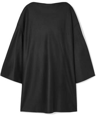 The Row Harper Oversized Wool-felt Dress - Black