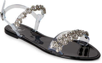 Dizzy Embellished Jelly Slingback Sandals