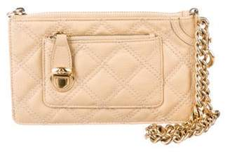 Marc Jacobs Quilted Leather Clutch Beige Quilted Leather Clutch