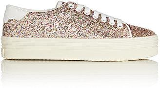 Saint Laurent Women's Women's SL/39 Glitter Platform Sneakers $595 thestylecure.com
