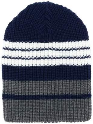 Altea colour-block ribbed beanie hat