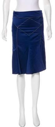 Just Cavalli Satin Flounce Skirt