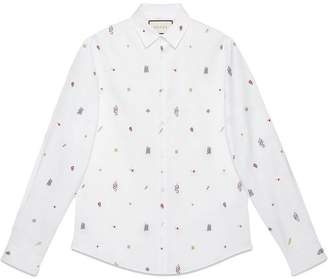 Gucci Symbols Oxford cotton Duke shirt