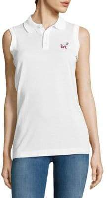 DSQUARED2 Signature Sleeveless Cotton Polo Shirt