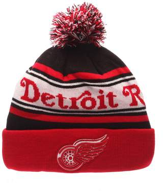 Zephyr Adult Detroit Red Wings Finish Line Beanie