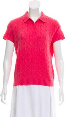 Ralph Lauren Cashmere Cable Knit Top