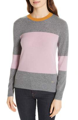 Ted Baker Colour by Numbers Bryonny Colorblock Cashmere Sweater