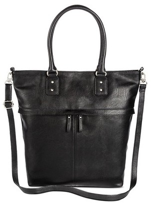 Merona Women's Faux Leather Tote handbag with Removable Crossbody strap $34.99 thestylecure.com