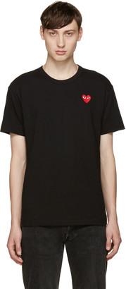 Comme des Garçons Play Black Heart Patch T-Shirt $105 thestylecure.com