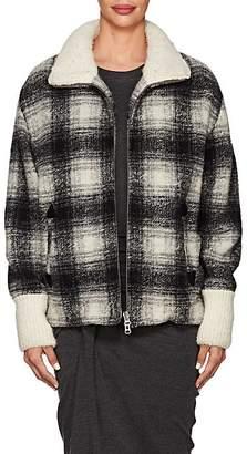 Etoile Isabel Marant Women's Gimo Checked Wool-Blend Bomber Jacket