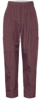 Tibi Checked wool-blend pants