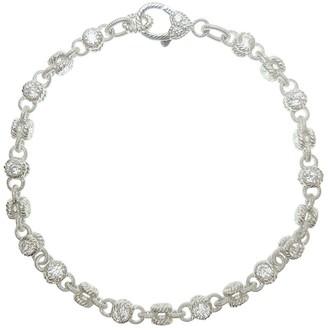 """Judith Ripka Sterling 100-Facet Diamonique 9"""" Ankle Bracelet"""