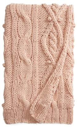 Nordstrom Chunky Cable Knit Throw Blanket