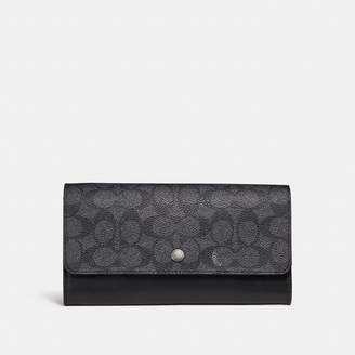 Coach New YorkCoach Multifunctional Wallet In Signature Canvas