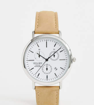 Reclaimed Vintage Inspired Suede Strap Watch In Tan Exclusive To ASOS