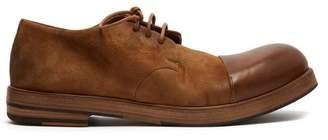 Marsèll Zucca Zeppa Suede Derby Shoes - Mens - Tan