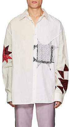 Calvin Klein Men's Patchwork Mixed-Media Shirt