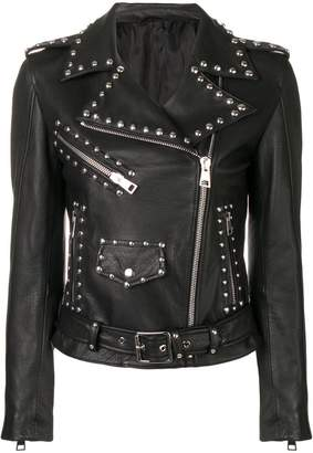 Manokhi studded biker jacket