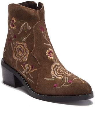 Jeffrey Campbell Trisul Embroidered Suede Bootie