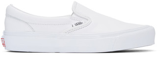 Vans White OG Classic Slip-On Sneakers $80 thestylecure.com
