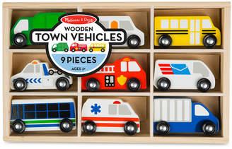 Melissa & Doug Wooden Town Vehicles Set