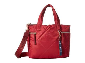 Tommy Hilfiger Kensington Shopper Quilted Nylon Tote Handbags