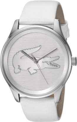 Lacoste Women's 'VICTORIA' Quartz Stainless Steel and Leather Casual Watch, Color:White (Model: 2001001)