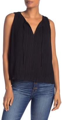 Madewell Solid Pleated Chiffon Tank Top