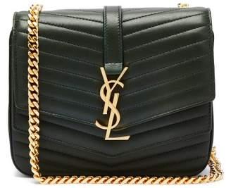 Saint Laurent Sulpice Small Leather Bag - Womens - Dark Green