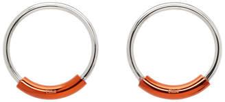 Chloé SIlver and Orange Reese Earrings