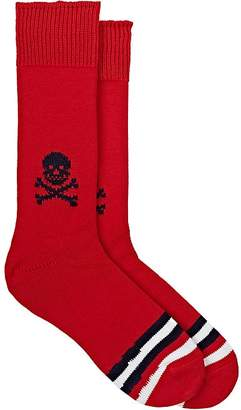 Corgi Men's Skull-Motif Cotton Mid-Calf Socks