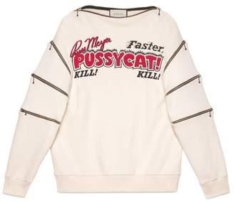 Gucci Oversize sweatshirt with movie print