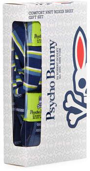 Psycho Bunny Men's Comfort Knit Boxer Briefs, 2 Pack