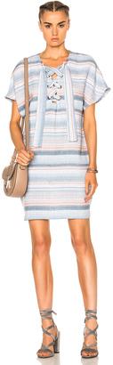 Mara Hoffman Lace Up Mini Dress $295 thestylecure.com