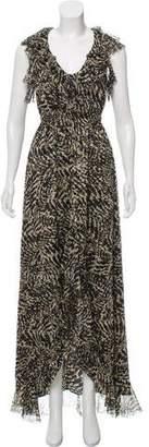 L'Agence Ruffle Maxi Dress