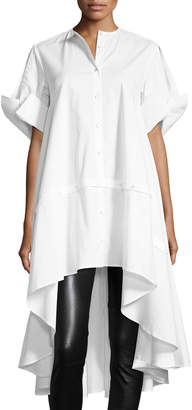 Palmer Harding Palmer//Harding Sequel Button-Front Short-Sleeve Poplin Shirt