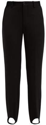 Balenciaga Pantasock Stirrup Hem Technical Tailored Trousers - Womens - Black