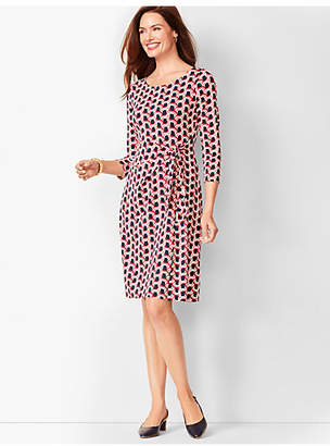 Talbots Side-Tie Swirl-Print Sheath Dress