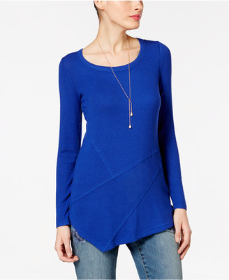 INC International Concepts Ribbed Asymmetrical Tunic, Only at Macy's $59.50 thestylecure.com