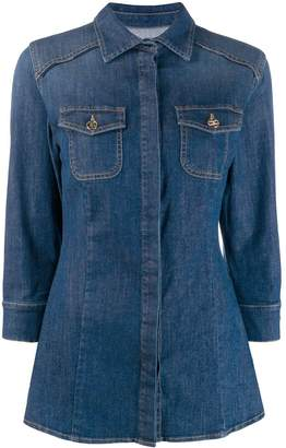 Elisabetta Franchi fitted denim shirt