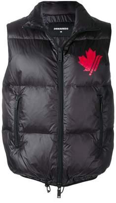 DSQUARED2 zipped gilet jacket
