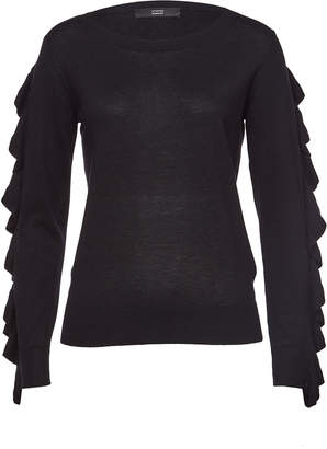 Steffen Schraut Pullover with Ruffled Sleeves