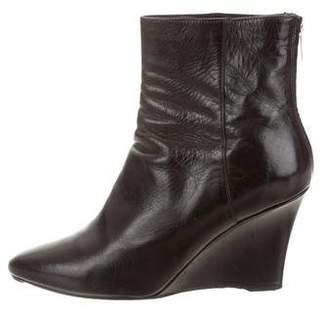 Jimmy Choo Patent Leather Wedge Boots