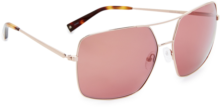 rose gold aviators  Rose Gold Aviator Sunglasses - ShopStyle Australia