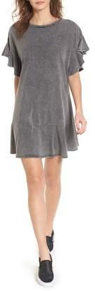 BP Stonewash Ruffle Trim Dress