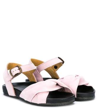 Pépé knot strap buckled sandals