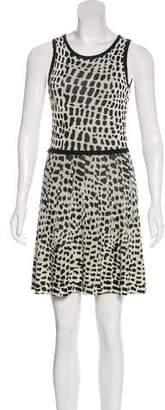 Trina Turk Animal Motif Mini Dress