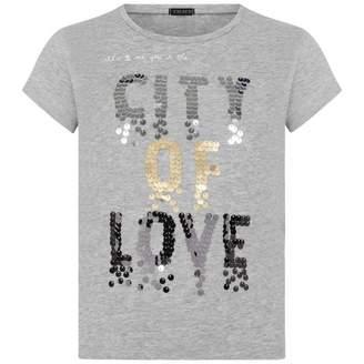 Ikks IKKSGirls Grey Sequin City Of Love Top