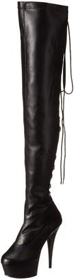 Pleaser USA Women's Delight-3063/B/PU Boot