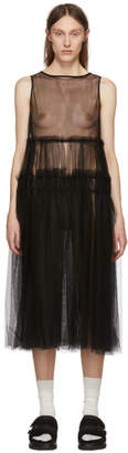 Chika Kisada Black Sleeveless Tulle Dress